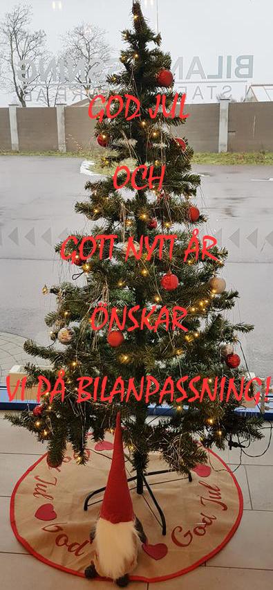 Julgran med Jul och nyårshälsning